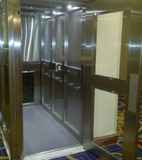 Elevator Swing Door | Stainless Access Lift Car Finish