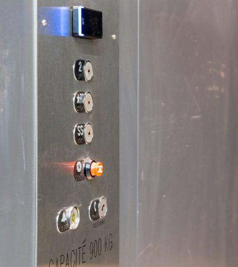 Ascenseur Noddem   Poste d'opération en acier inoxydable