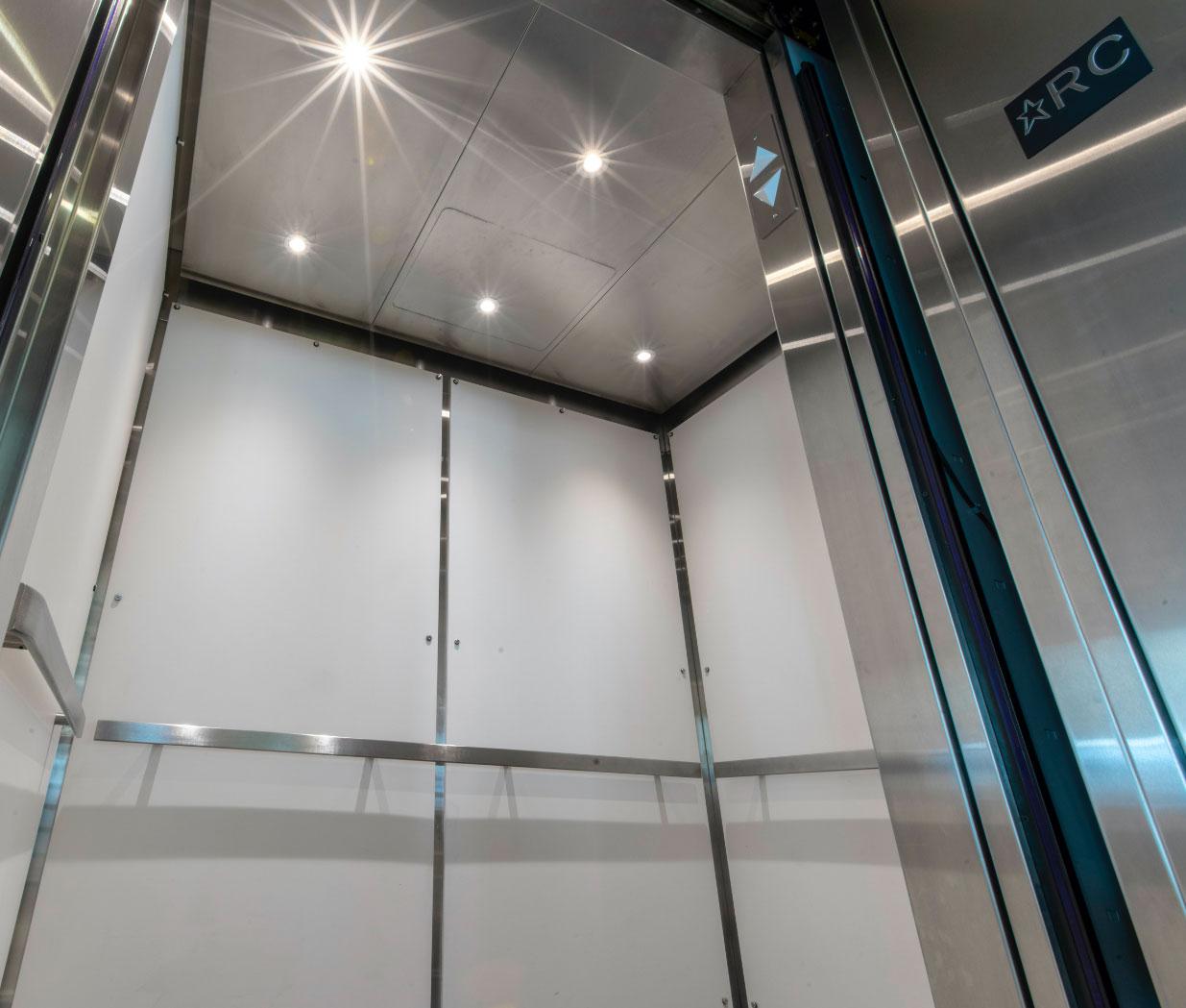 Éclairage DEL | Cabine d'ascenseur | Confort des usagers